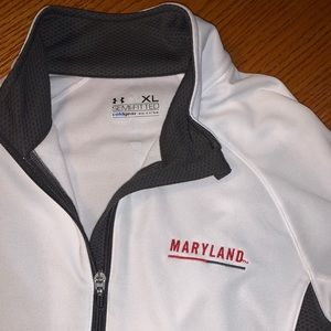 Under Armor White Quarter Zip - Maryland